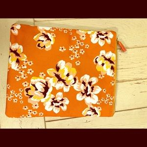 Rachel Pally leather foldable clutch yellow/floral